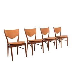 Four Finn Juhl Model BO-63 Side Chairs