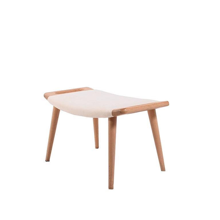 Original bleach oak Hans Wegner stool or ottoman, solid bleach oak made by AP Møbler.