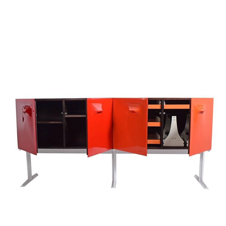 Mid-20th Century Two Sided Raymond Loewy Bar Cabinet DF 2000 For Sale