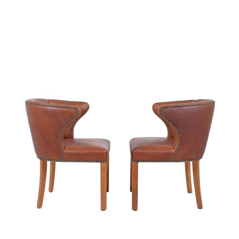 Danish 1940s Pair of Armchairs Attributed Frits Henningsen For Sale