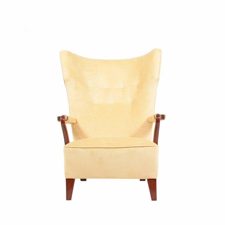 Scandinavian Modern Rare 1938 Large Easy Chair by Bertil Söderberg For Sale