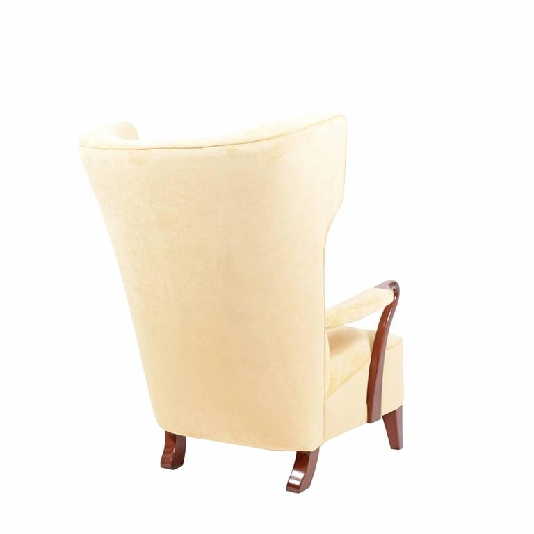 Swedish Rare 1938 Large Easy Chair by Bertil Söderberg For Sale
