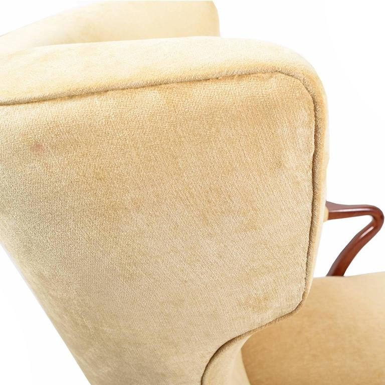 Rare 1938 Large Easy Chair by Bertil Söderberg For Sale 1