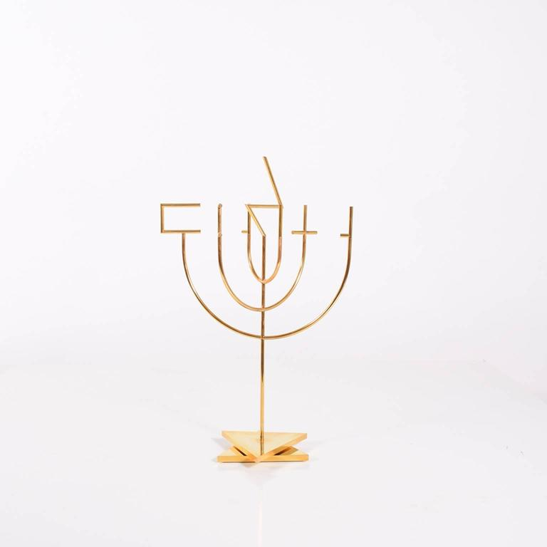 Sculpture by Yaacov Agam 'Peace Candelabra' Edition of 180 2