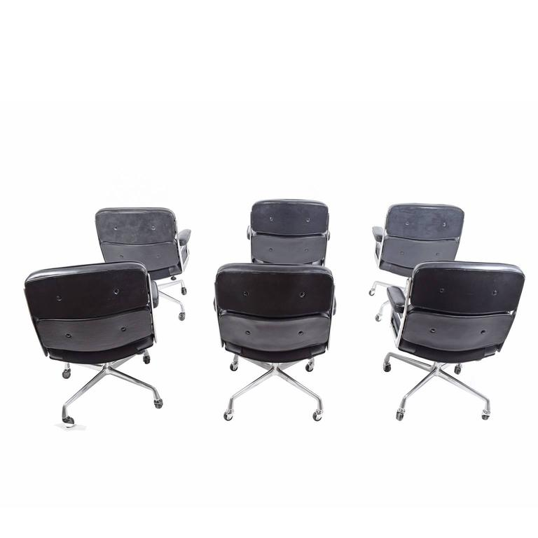 Six Time Life Chairs by Charles Eames for Herman Miller 4
