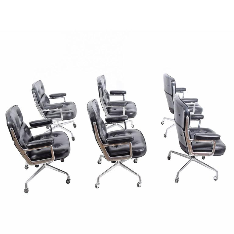 Six Time Life Chairs by Charles Eames for Herman Miller 2