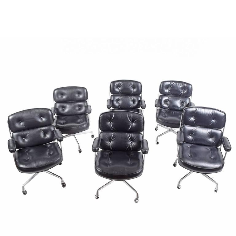 Six Time Life Chairs by Charles Eames for Herman Miller 3