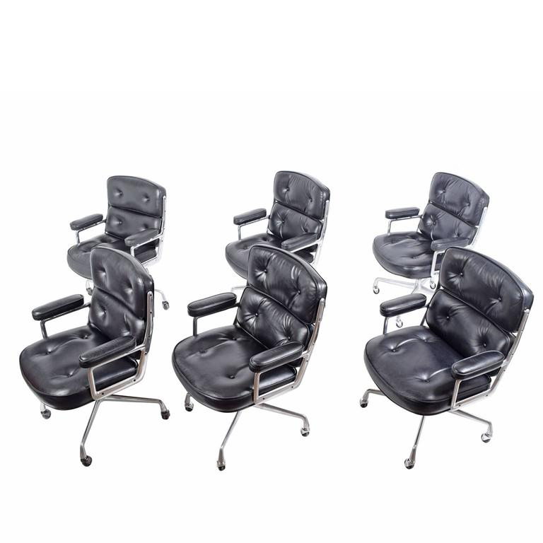 Six Time Life Chairs by Charles Eames for Herman Miller 1