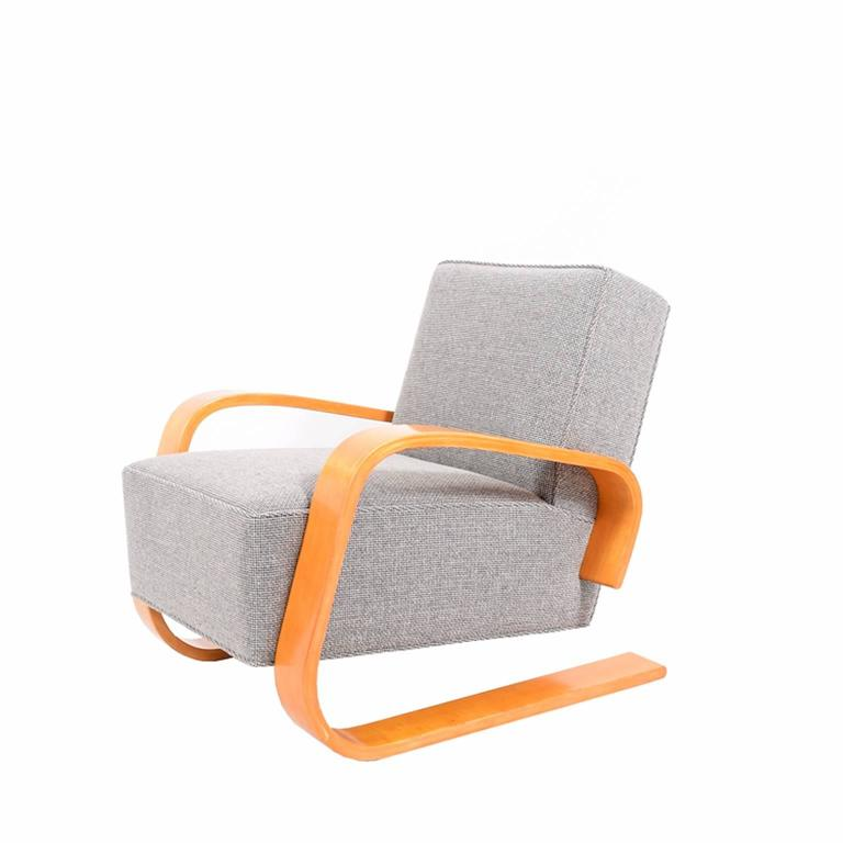 Armchair 400 � Tank� Lounge Chairs From Artek: Early Tank Chair By Alvar Aalto For Artek At 1stdibs