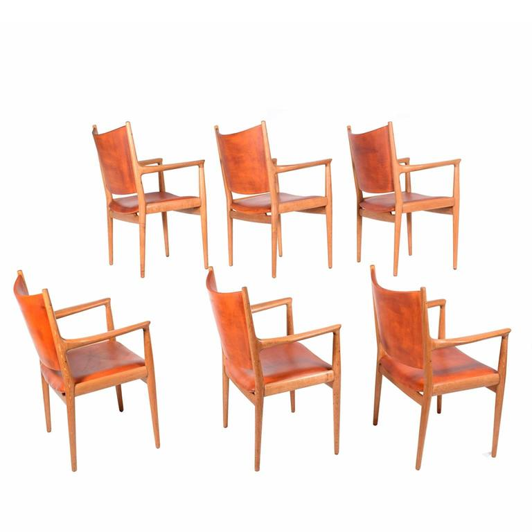 "Set of Six Hans Wegner ""513"" Armchairs for Johannes Hansen 2"