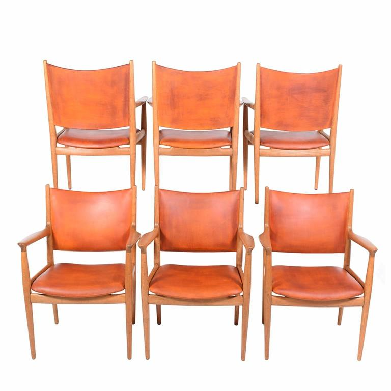 "Set of Six Hans Wegner ""513"" Armchairs for Johannes Hansen 3"