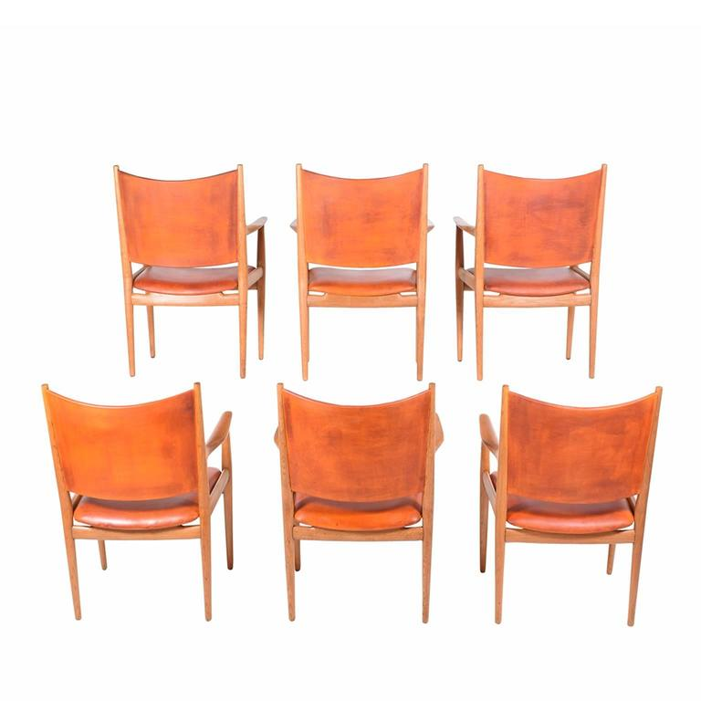 "Set of Six Hans Wegner ""513"" Armchairs for Johannes Hansen 4"