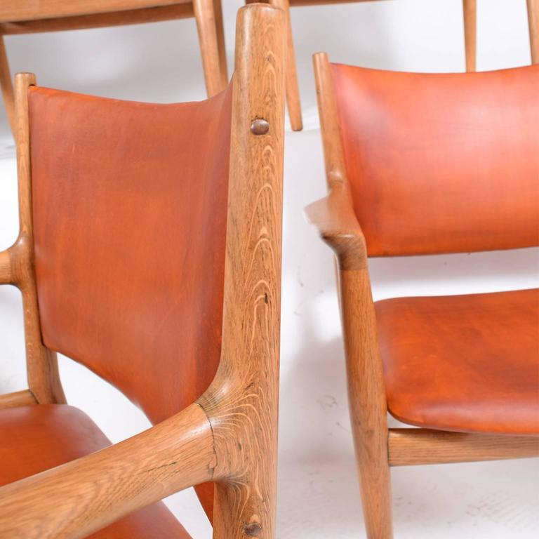 "Set of Six Hans Wegner ""513"" Armchairs for Johannes Hansen 7"