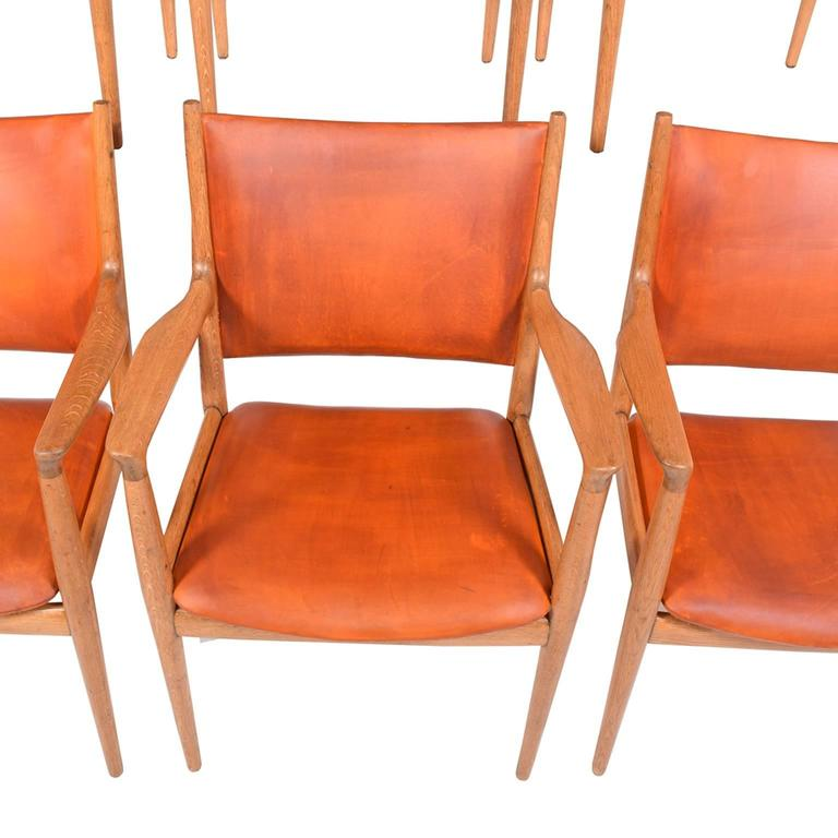 "Set of Six Hans Wegner ""513"" Armchairs for Johannes Hansen 6"