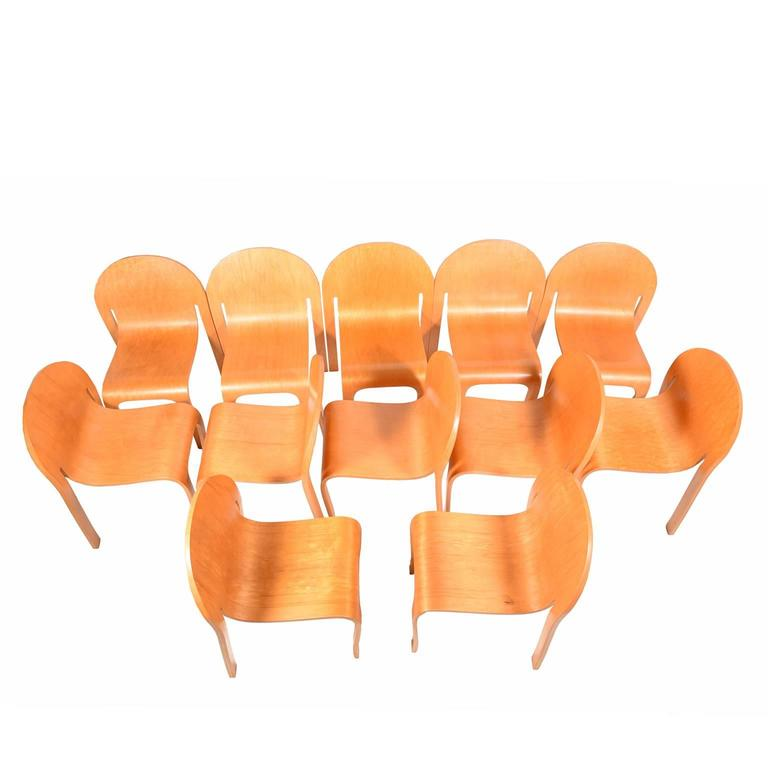 Set of Twelve Bodyform Chairs by Peter Danko For Sale 1