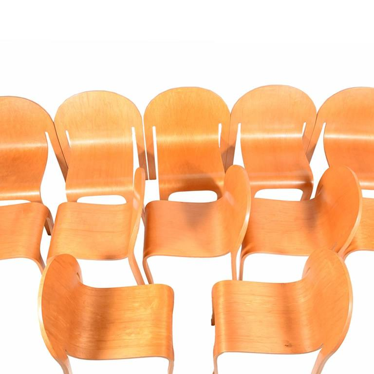 Set of Twelve Bodyform Chairs by Peter Danko For Sale 4