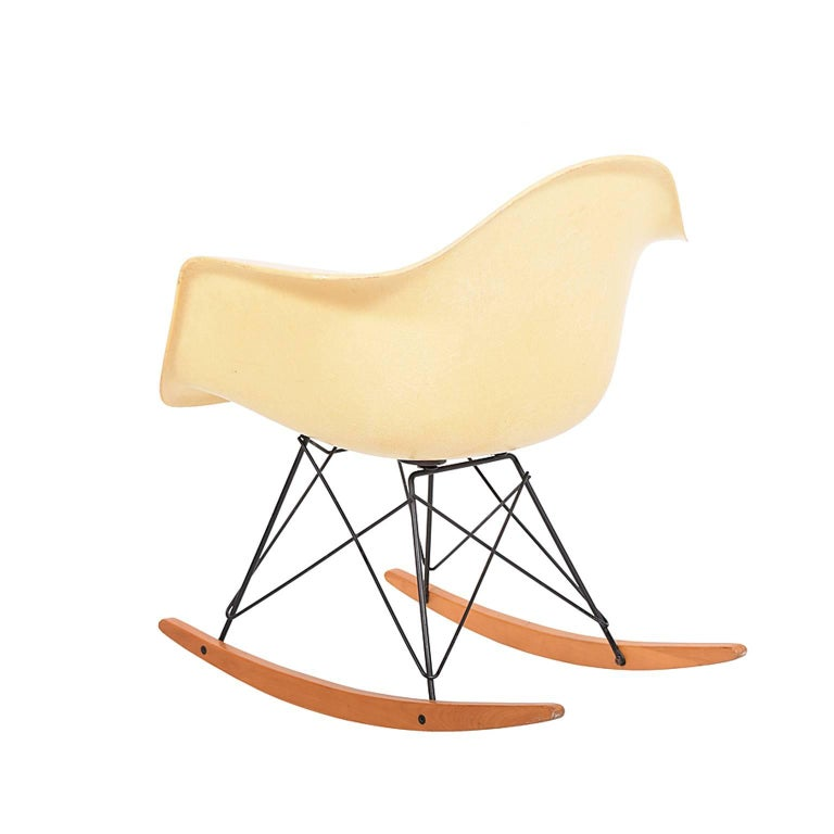 Organic Modern RAR Second Edition Rocking Armchair by Charles Eames for Herman Miller For Sale