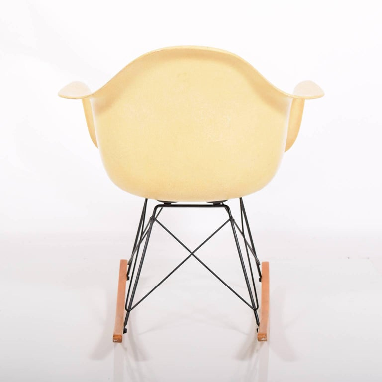 American RAR Second Edition Rocking Armchair by Charles Eames for Herman Miller For Sale
