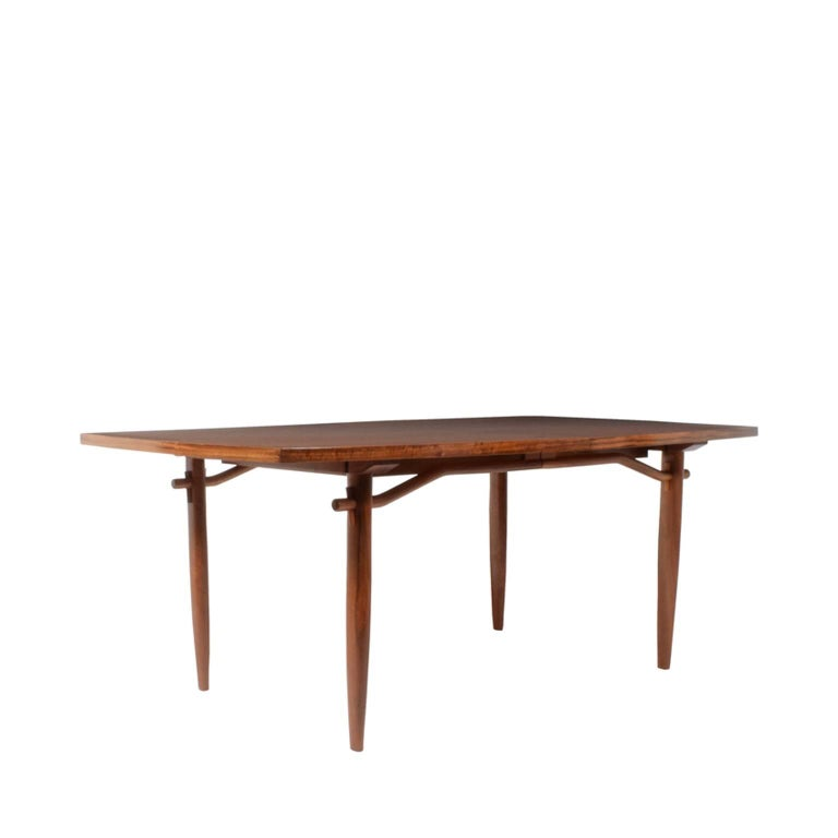 Walnut dining table from Origins group; designed by George Nakashima for Widdicomb in the 1950s. Measure: One 22