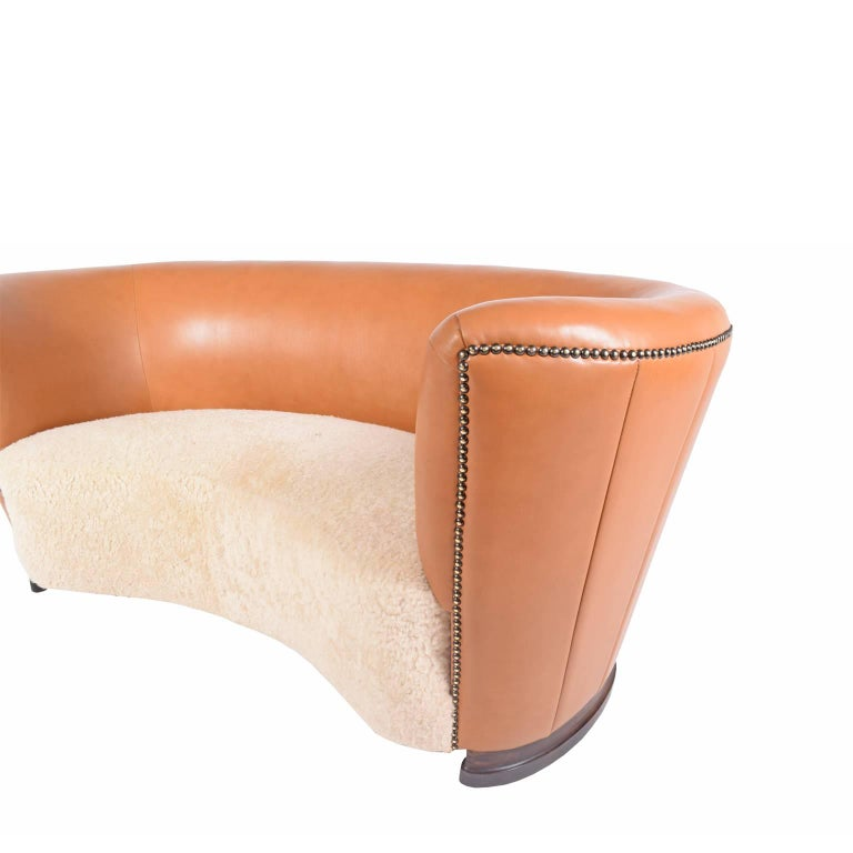 Mid-20th Century 1940s Danish Free-Form Settee For Sale