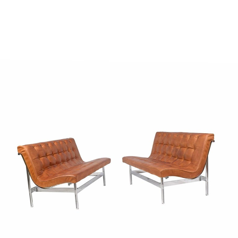 Two rare settees designed by Katavolos, Little & Kelly from the