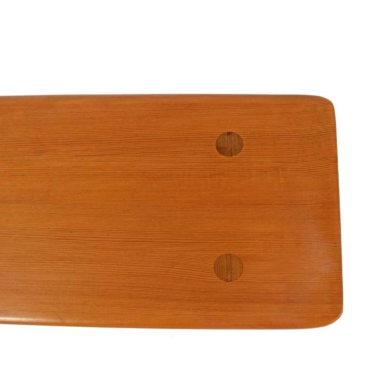 "Swedish ""Visingsö"" Pine Bench by Carl Malmsten For Sale"