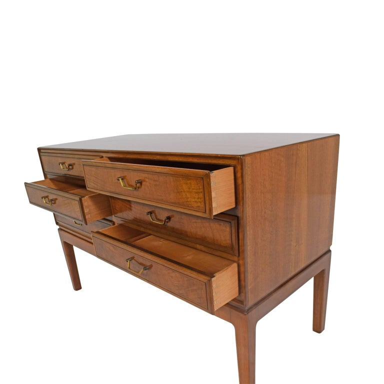 1940s Walnut Chest of Drawers Attributed to Ole Wanscher 5