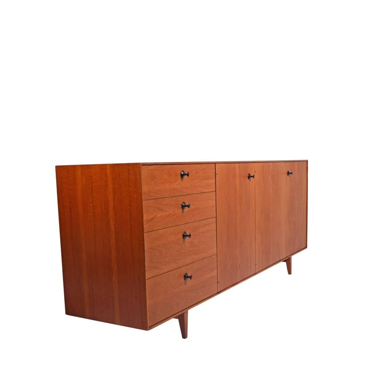 Mid-Century Modern Teak Thin Edge Cabinet by George Nelson and Associates for Herman Miller For Sale
