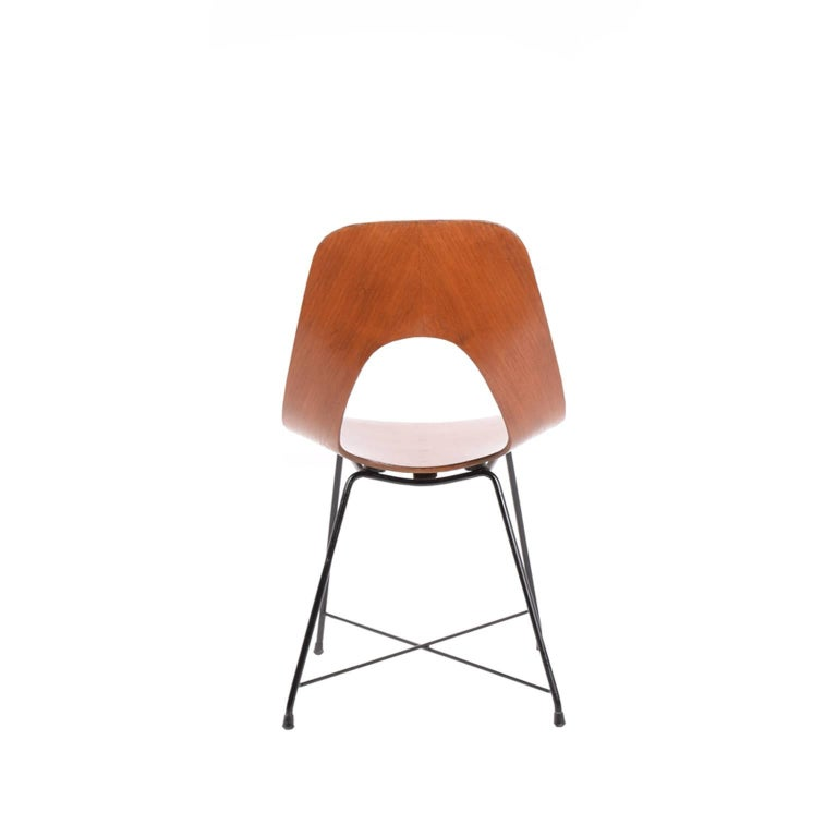 Modern Side Chair Designed by Augusto Bozzi for Saporiti For Sale