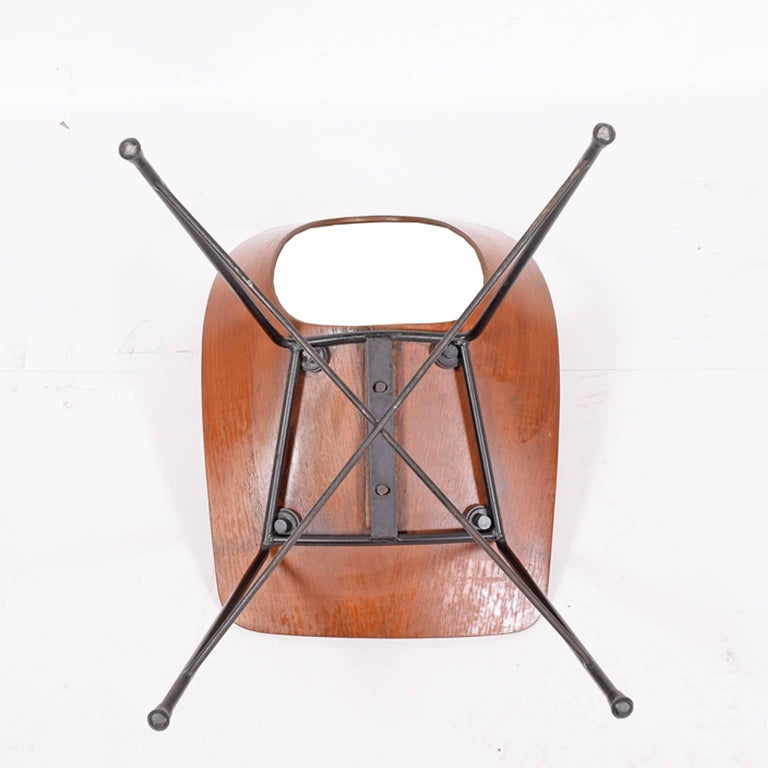 Italian Side Chair Designed by Augusto Bozzi for Saporiti For Sale