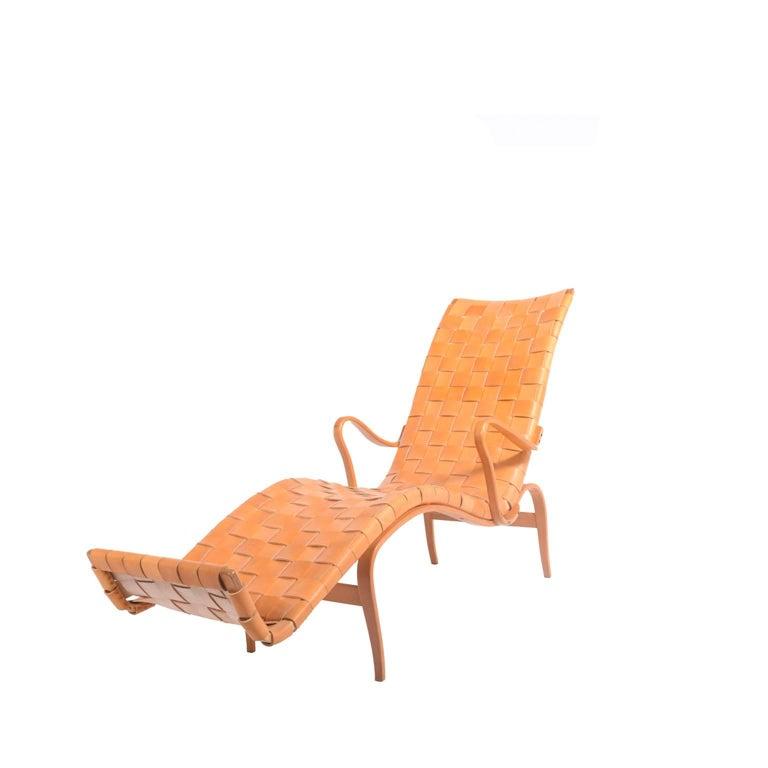 Scandinavian Modern 'Pernilla 3' Lounge Chair by Bruno Mathsson for Karl Mathsson For Sale