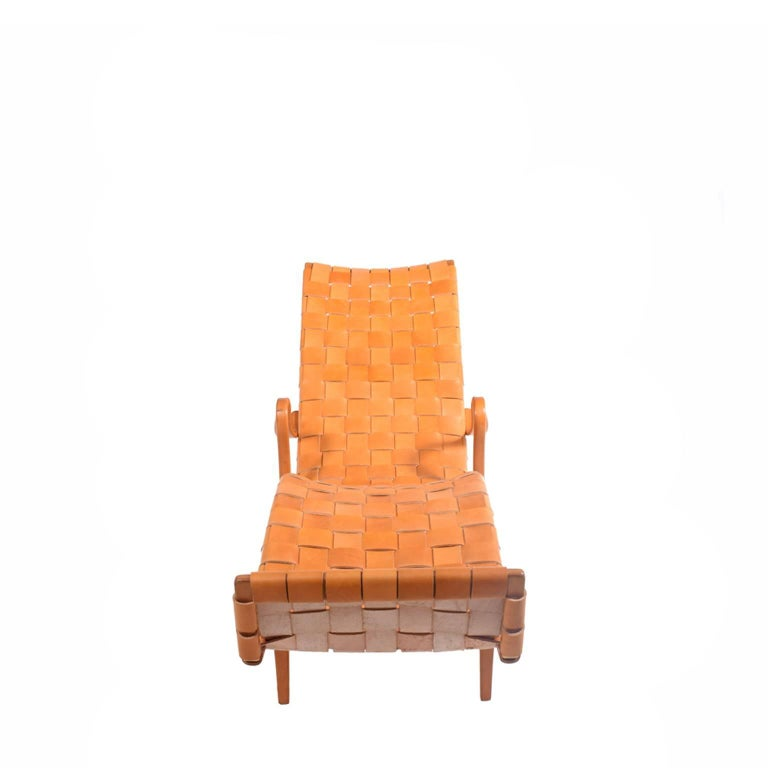 Swedish 'Pernilla 3' Lounge Chair by Bruno Mathsson for Karl Mathsson For Sale