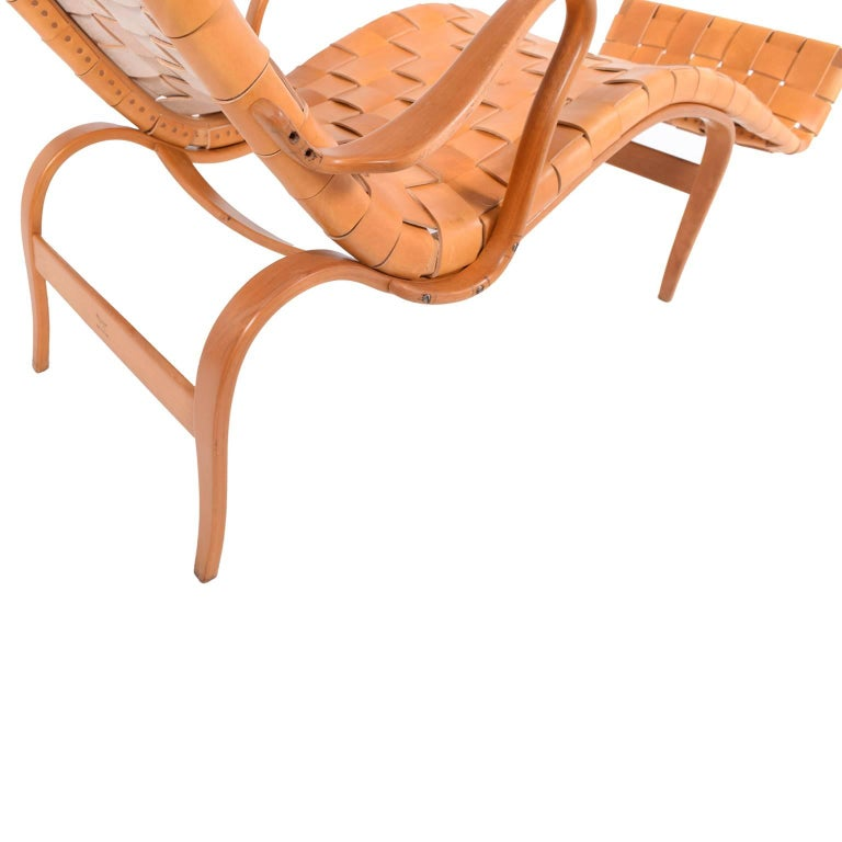 Mid-20th Century 'Pernilla 3' Lounge Chair by Bruno Mathsson for Karl Mathsson For Sale