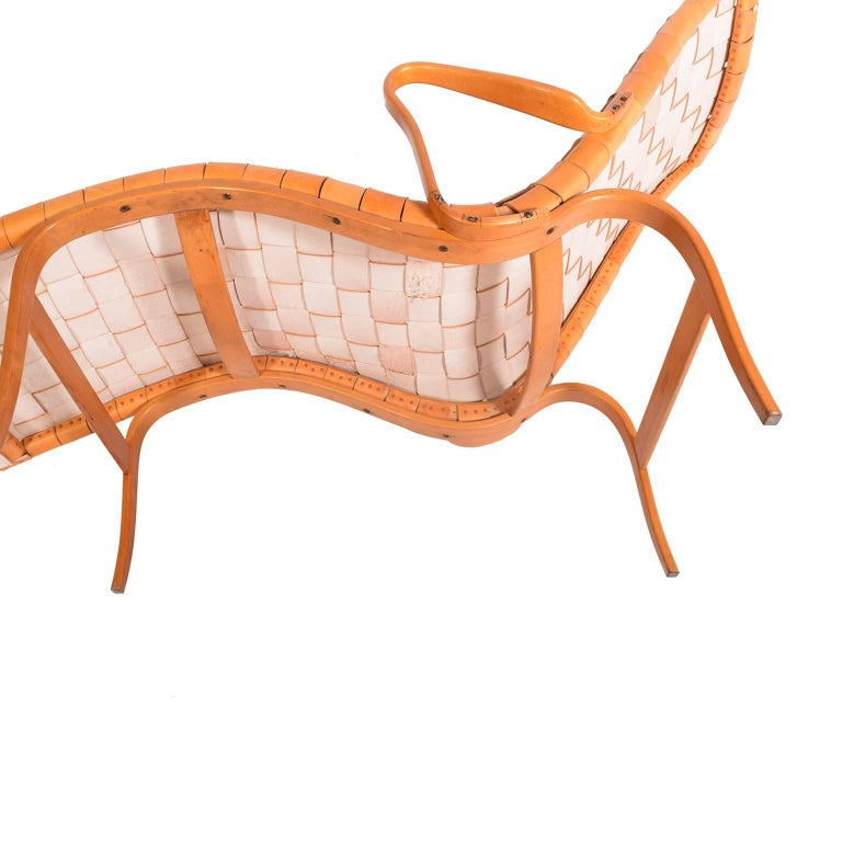 Beech 'Pernilla 3' Lounge Chair by Bruno Mathsson for Karl Mathsson For Sale