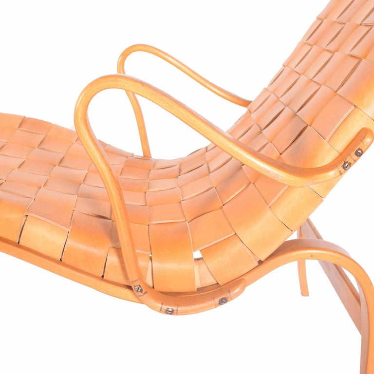 'Pernilla 3' Lounge Chair by Bruno Mathsson for Karl Mathsson In Good Condition For Sale In Dallas, TX