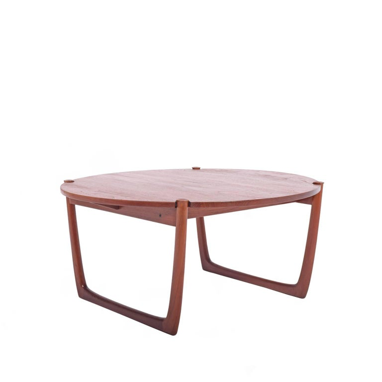 Solid teak coffee table by peter hvidt and orla m lgaard nielsen for france and son for sale at Solid teak coffee table