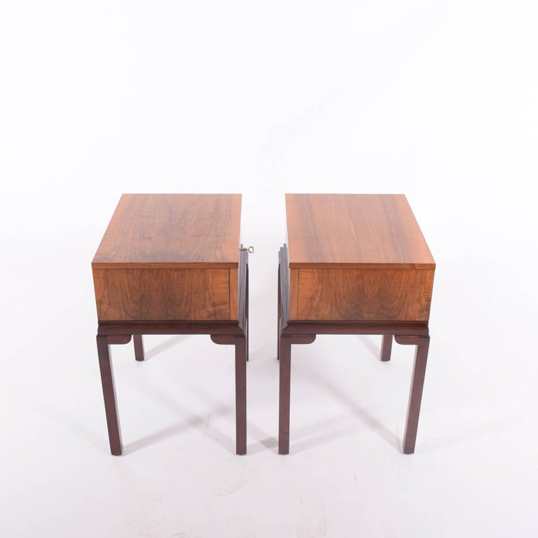 1930s scandinavian art deco nightstands or side tables for sale at