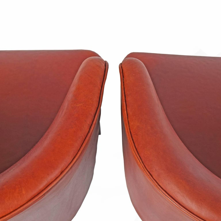 Leather  Fritz Hansen Armchairs, 1941 For Sale