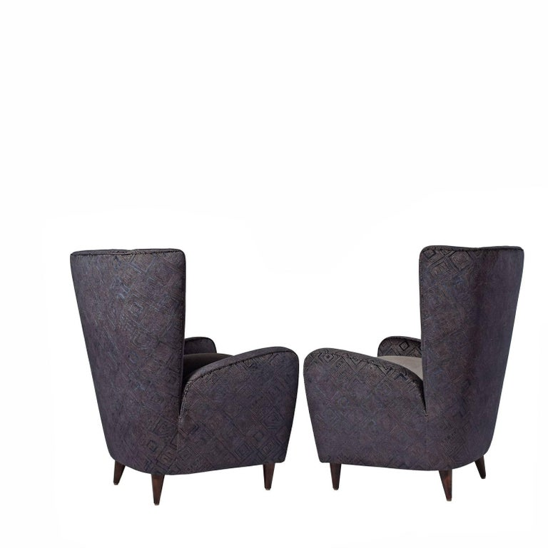 Mid-Century Modern Easy Chairs by Paolo Buffa from the Bristol Hotel For Sale