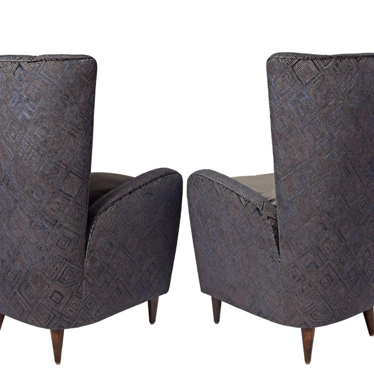 Italian Easy Chairs by Paolo Buffa from the Bristol Hotel For Sale