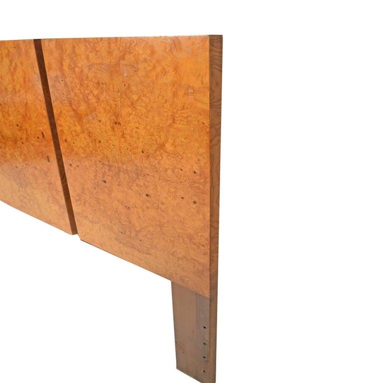 American King-Size Burl Maple Headboard by Lane Furniture For Sale
