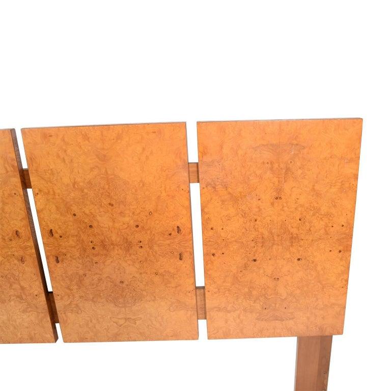 Modern King-Size Burl Maple Headboard by Lane Furniture For Sale