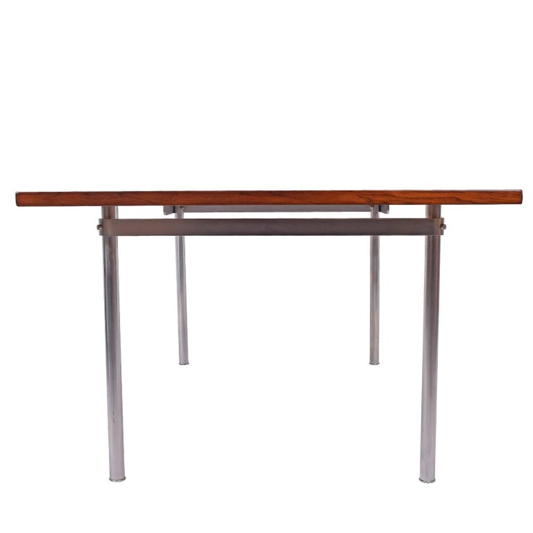 Scandinavian Modern Working Dining Rosewood Table by Hans Wegner #AT-318 for Andreas Tuck For Sale