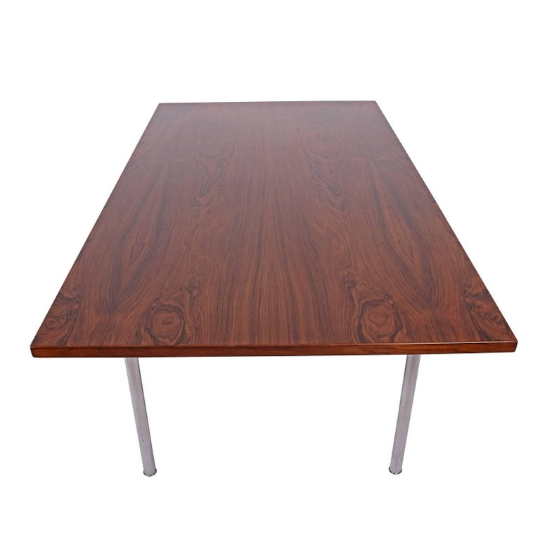 Working Dining Rosewood Table by Hans Wegner #AT-318 for Andreas Tuck In Good Condition For Sale In Dallas, TX