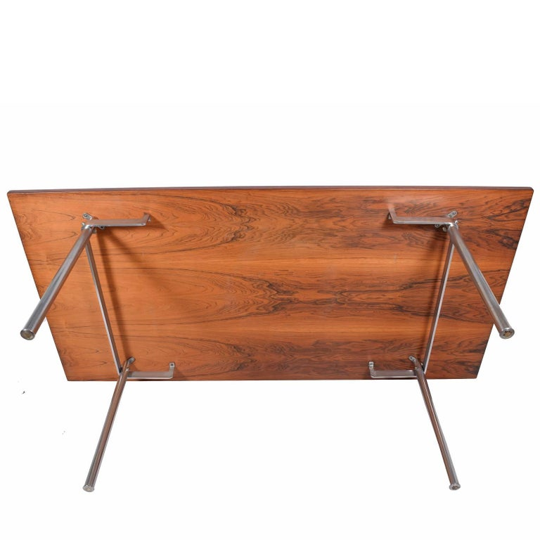 Working Dining Rosewood Table by Hans Wegner #AT-318 for Andreas Tuck For Sale 1