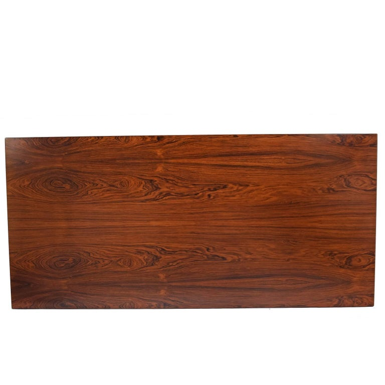 Danish Working Dining Rosewood Table by Hans Wegner #AT-318 for Andreas Tuck For Sale
