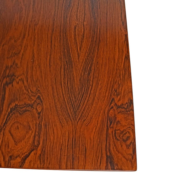 Working Dining Rosewood Table by Hans Wegner #AT-318 for Andreas Tuck For Sale 2