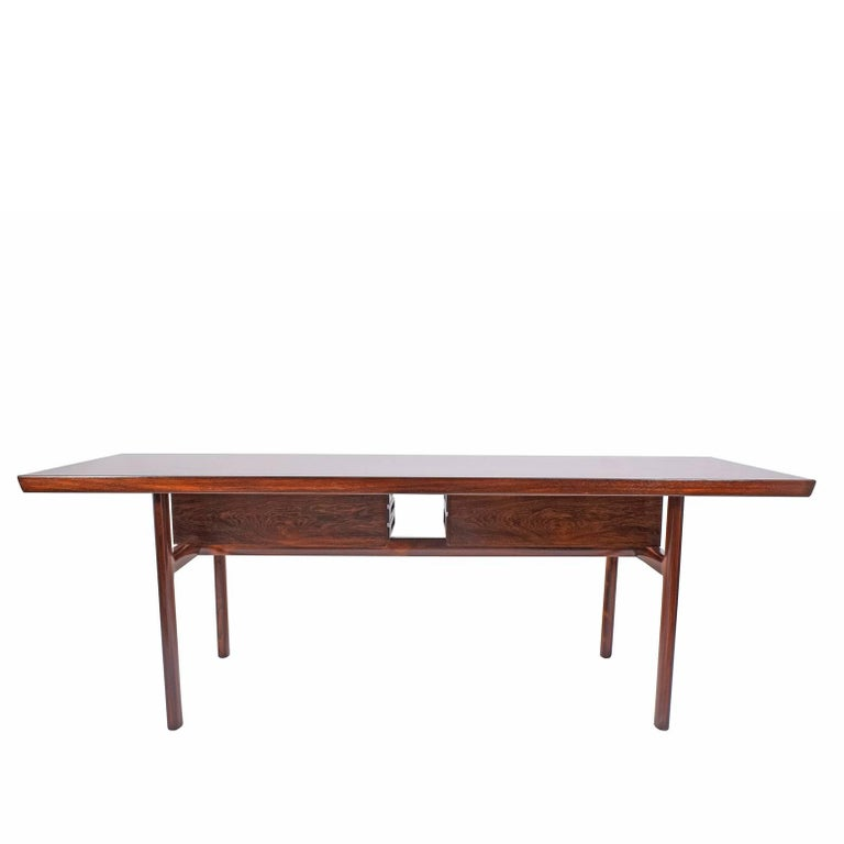 Scandinavian Modern Rosewood Desk by Peter Hvidt and Orla Mølgaard Nielsen for Pontoppidan For Sale