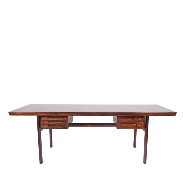 Rosewood Desk by Peter Hvidt and Orla Mølgaard Nielsen for Pontoppidan For Sale