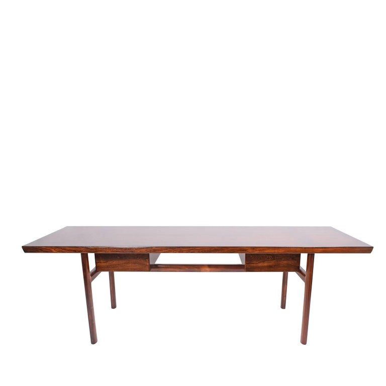 Danish Rosewood Desk by Peter Hvidt and Orla Mølgaard Nielsen for Pontoppidan For Sale